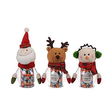 1db karácsonyi pet zöld cukorkát jar - mikulás / hóember / elk (véletlenszerű szín)