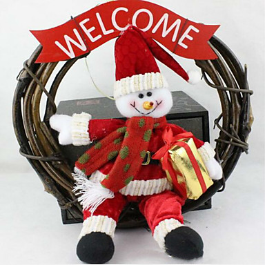 크리스마스 화환 25cm 산타 눈사람 갈 랜드 크리스마스 장식