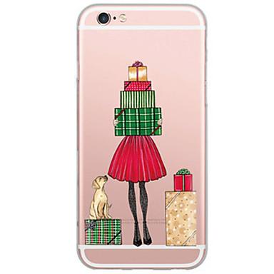 Kompatibilitás iPhone X iPhone 8 iPhone 7 iPhone 6 iPhone 5 tok tokok Ultra-vékeny Áttetsző Hátlap Case Karácsony Puha Hőre lágyuló