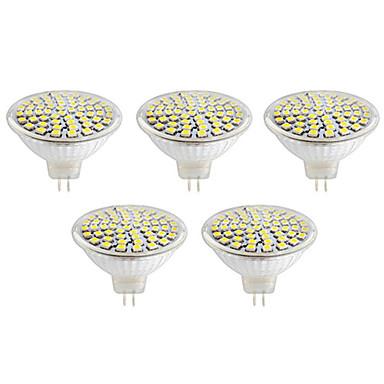 gu10 gx5.3 led spotlámpa mr16 60led smd 2835 500lm meleg fehér hideg fehér 2700k / 6500k dekoratív