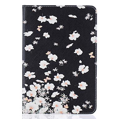 Mert Kártyatartó / Állvánnyal / Minta / Dombornyomott Case Teljes védelem Case Virág Kemény Műbőr Apple iPad Mini 4 / iPad Mini 3/2/1