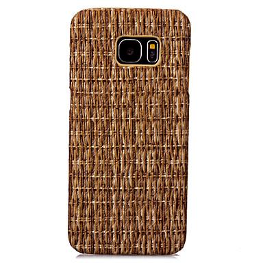 케이스 제품 Samsung Galaxy S7 edge S7 패턴 뒷면 커버 나무결 하드 인조 가죽 용 S7 edge S7