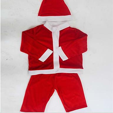 산타 클로스 의상 옷 아이 크리스마스 의상 표시 100-110cm
