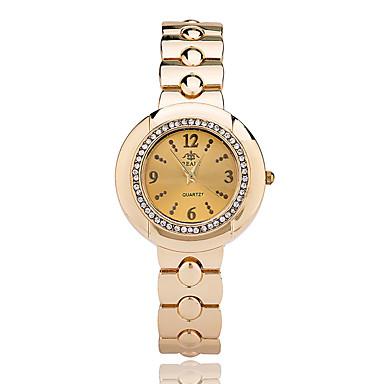 여성용 손목 시계 드레스 시계 패션 시계 석영 / 합금 밴드 캐쥬얼 우아한 멋진 실버 골드