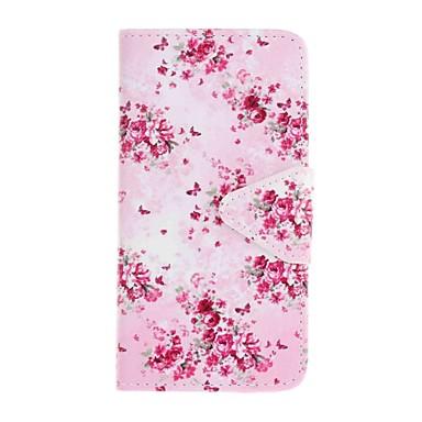 케이스 제품 Samsung Galaxy S7 edge S7 카드 홀더 지갑 스탠드 패턴 전체 바디 케이스 꽃장식 하드 PU 가죽 용 S7 edge S7