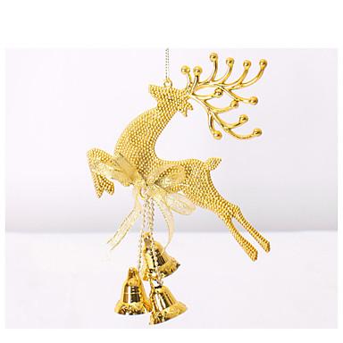20 cm Santa łosia christmas dzwony wiszą świąteczne ozdoby choinkowe ozdoby choinkowe dekoracje okienne rekwizyty zabawy