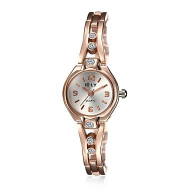 아가씨들 패션 시계 캐쥬얼 시계 팔찌 시계 방수 석영 합금 밴드 참 우아한 캐쥬얼 골드