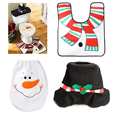 1 określa Boże Narodzenie dekoracje pokrywa sedes oraz zestaw dywan ubikacja bałwanek dekoracyjne pokrywki promocji