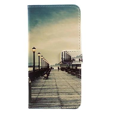 Kılıf Na Apple Etui iPhone 5 iPhone 6 iPhone 7 Etui na karty Portfel Z podpórką Flip Wzór Pełne etui Widok miasta Twarde Skóra PU na