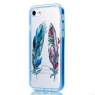 용 아이폰7케이스 / 아이폰6케이스 / 아이폰5케이스 투명 / 패턴 케이스 뒷면 커버 케이스 깃털 소프트 TPU Apple아이폰 7 플러스 / 아이폰 (7) / iPhone 6s Plus/6 Plus / iPhone 6s/6 / iPhone