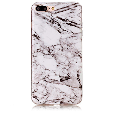 Case Kompatibilitás Apple iPhone 5 tok iPhone 6 iPhone 7 IMD Fekete tok Márvány Puha TPU mert iPhone 7 Plus iPhone 7 iPhone 6s Plus