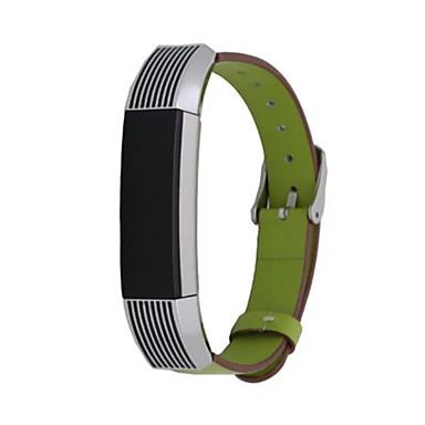 레드 / 블랙 / 그린 / 블루 / 브라운 / 핑크 가죽 스포츠 밴드 용 핏빗 손목 시계 16mm