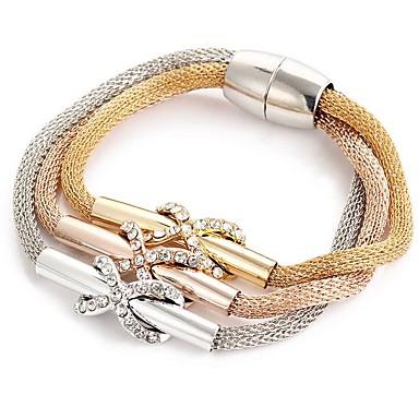 Femme Crossover Bracelets - Croix Bracelet Or Rose Pour Regalos de Navidad Quotidien Décontracté