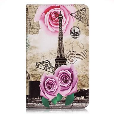 용 지갑 / 카드 홀더 케이스 풀 바디 케이스 에펠탑 하드 인조 가죽 Samsung Tab A 7.0