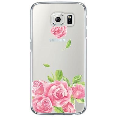 Case Kompatibilitás Samsung Galaxy S7 edge S7 Ultra-vékeny Áttetsző Hátlap Virág Puha TPU mert S7 edge S7 S6 edge plus S6 edge S6 S5 S4
