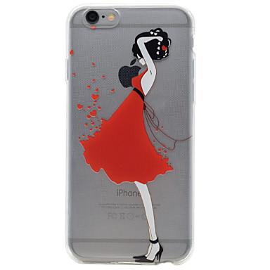 용 아이폰7케이스 / 아이폰6케이스 / 아이폰5케이스 투명 / 엠보싱 텍스쳐 / 패턴 케이스 뒷면 커버 케이스 섹시 레이디 소프트 TPU Apple아이폰 7 플러스 / 아이폰 (7) / iPhone 6s Plus/6 Plus / iPhone