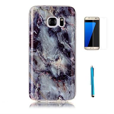 케이스 제품 Samsung Galaxy S7 edge S7 패턴 뒷면 커버 마블 소프트 TPU 용 S7 edge S7 S6 edge S6 S5 S4