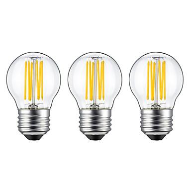5W E26/E27 Izzószálas LED lámpák G45 6 led COB Meleg fehér 550lm 2700K AC 220-240V