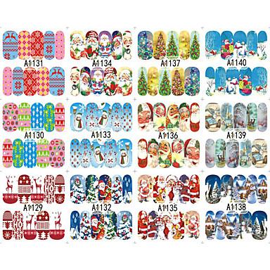 10 아트 스티커 네일 3D 네일 스티커 메이크업 화장품 아트 디자인 네일