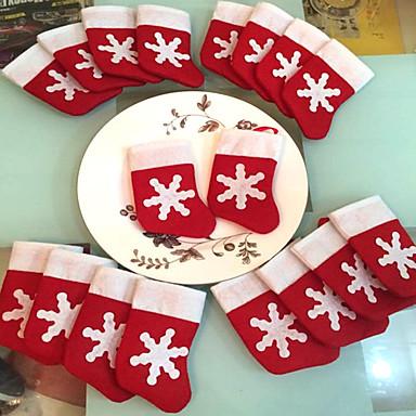 12 db / set mini karácsonyi harisnya karácsonyi dekoráció kellékek dekoráció fesztivál fél díszítés