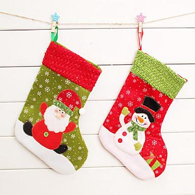 2db karácsony harisnya karácsonyi harisnya karácsonyi ajándékcsomagot karácsonyfa dísz (stílus véletlenszerű)