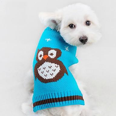 고양이 강아지 스웨터 강아지 의류 귀여운 캐쥬얼/데일리 애니멀 오렌지 레드 그린 블루 코스츔 애완 동물