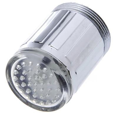 LED Wasserhahn hellblau Glühen Duschkopf Küchenarmatur Belüfter