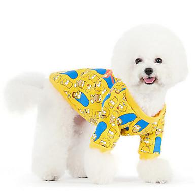강아지 후드 강아지 의류 귀여운 따뜻함 유지 플라워