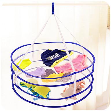 더블 데크 접이식 건조 세탁 바구니 (임의의 색)