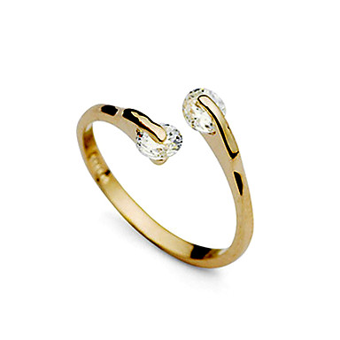Women's Zircon / Cubic Zirconia / Imitation Diamond Band Ring - Fashion Golden Ring For Wedding / Party / Daily