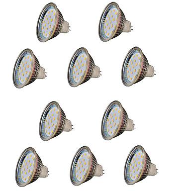 2 W 200-300 lm GU5.3(MR16) LED szpotlámpák MR16 18 led SMD 2835 Dekoratív Meleg fehér DC 12V