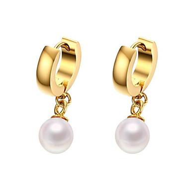 Női Gyöngy Függők - Gyöngy, Arannyal bevont Arany / Hipoallergén / Esküvő / Parti / Napi / Hétköznapi