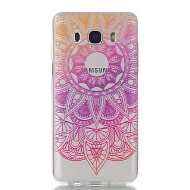 voordelige Galaxy J-serie hoesjes / covers-hoesje Voor Samsung Galaxy J7 (2016) / J5 (2016) / J5 Ultradun / Transparant / Patroon Achterkant Bloem Zacht TPU