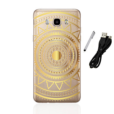 Kılıf Na Samsung Galaxy J5 (2016) J3 (2016) Półprzezroczyste Wzór Czarne etui Mandala Miękkie TPU na J5 (2016) J5 J3 (2016) J3 J1 (2016)