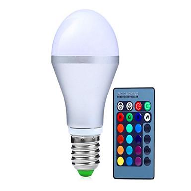 250-350 lm E14 GU10 E26/E27 B22 Okos LED izzók A60(A19) 3 led Nagyteljesítményű LED Tompítható Távvezérlésű Dekoratív RGB AC 85-265V