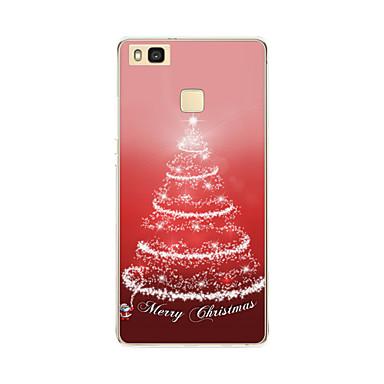 케이스 제품 화웨이 P9 화웨이 P9 라이트 화웨이 P8 Huawei 화웨이 P8 라이트 반투명 패턴 뒷면 커버 크리스마스 소프트 TPU 용 Huawei P9 Lite Huawei P9 Huawei P8 Lite Huawei P8 Huawei