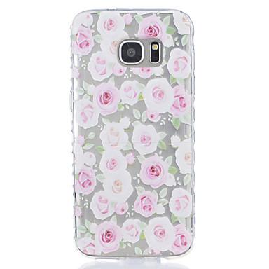 케이스 제품 Samsung Galaxy S7 edge S7 투명 패턴 뒷면 커버 꽃장식 소프트 TPU 용 S7 edge S7 S6 S5