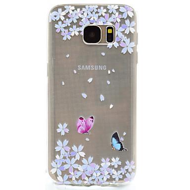 Case Kompatibilitás Samsung Galaxy S8 Plus S8 Minta Hátlap Pillangó Puha TPU mert S8 S8 Plus S7 edge S7 S5 Mini S5