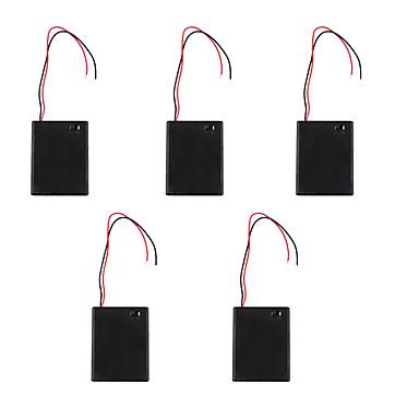 5db aaa 4 egy fedél piros és fekete elemtartó kapcsolóval