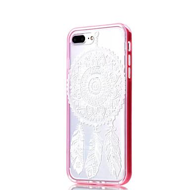 Mert iPhone 7 tok / iPhone 7 Plus tok Ütésálló / Átlátszó / Minta Case Hátlap Case Mandala Puha TPU Apple iPhone 7 Plus / iPhone 7