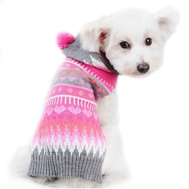 강아지 스웨터 강아지 의류 귀여운 따뜻함 유지 스트라이프 코스츔 애완 동물