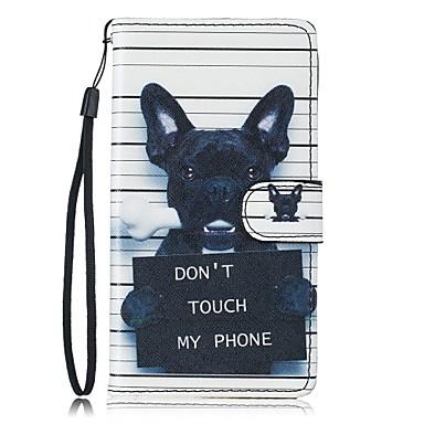 Case Kompatibilitás Samsung Galaxy S7 edge S7 Kártyatartó Pénztárca Állvánnyal Héjtok Kutya Kemény PU bőr mert S7 edge S7 S6 S5