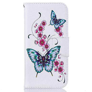 Недорогие Чехлы и кейсы для Galaxy S6-Кейс для Назначение SSamsung Galaxy S7 edge / S7 / S6 edge Кошелек / Бумажник для карт / со стендом Чехол Бабочка Твердый Кожа PU