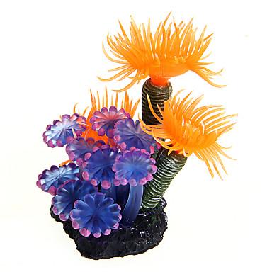 Halak Akváriumdíszek Vízi növény Díszítések Díszítmény Műanyag