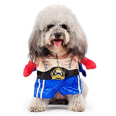 Γάτα Σκύλος Στολές Παλτά Σύνολα Φόρμες Ρούχα για σκύλους Χαριτωμένο Στολές Ηρώων Διατηρείτε Ζεστό Μοντέρνα Halloween Χριστούγεννα Τζιν Ροζ