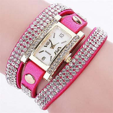 Damskie Zegarek na bransoletce Modny Kwarcowy PU Pasmo Vintage Na co dzień Czarny Biały Niebieski Czerwony Brązowy Zielnony Różowy