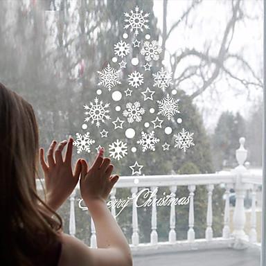 Karácsony Ünneő Falimatrica Repülőgép matricák Tükör falimatrica Dekoratív falmatricák Hűtőmágnesek Anyag Eltávolítható lakberendezési