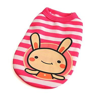 고양이 개 티셔츠 조끼 강아지 의류 겨울 여름 모든계절/가을 스트라이프 귀여운 패션 캐쥬얼/데일리 따뜻함 유지 방풍 화이트 블루 핑크