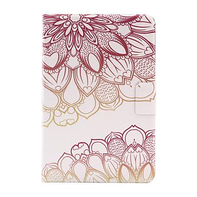 Για Θήκη καρτών / Οριγκάμι tok Πίσω Κάλυμμα tok Λουλούδι Σκληρή Συνθετικό δέρμα για Apple iPad Mini 4 / iPad Mini 3/2/1