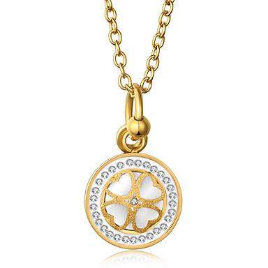 Női Nyaklánc medálok Heart Shape Rozsdamentes acél Hamis gyémánt Egyedi Strassz Szerelem Virágos Divat luxus ékszer Ékszerek